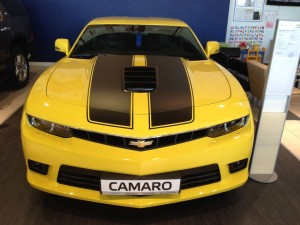 Chevrolet Camaro yellow